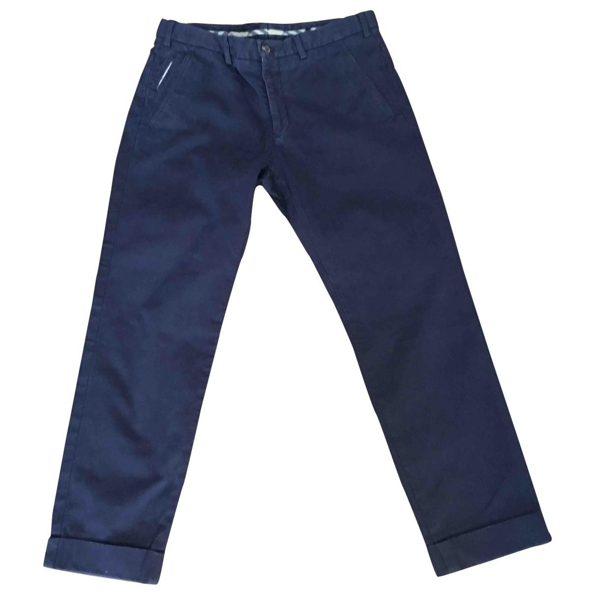 Burberry \N Purple Cotton Trousers for Men 48 IT