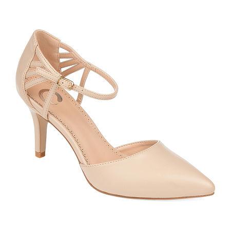 Journee Collection Womens Mia Pointed Toe Stiletto Heel Pumps, 7 Medium, Beige