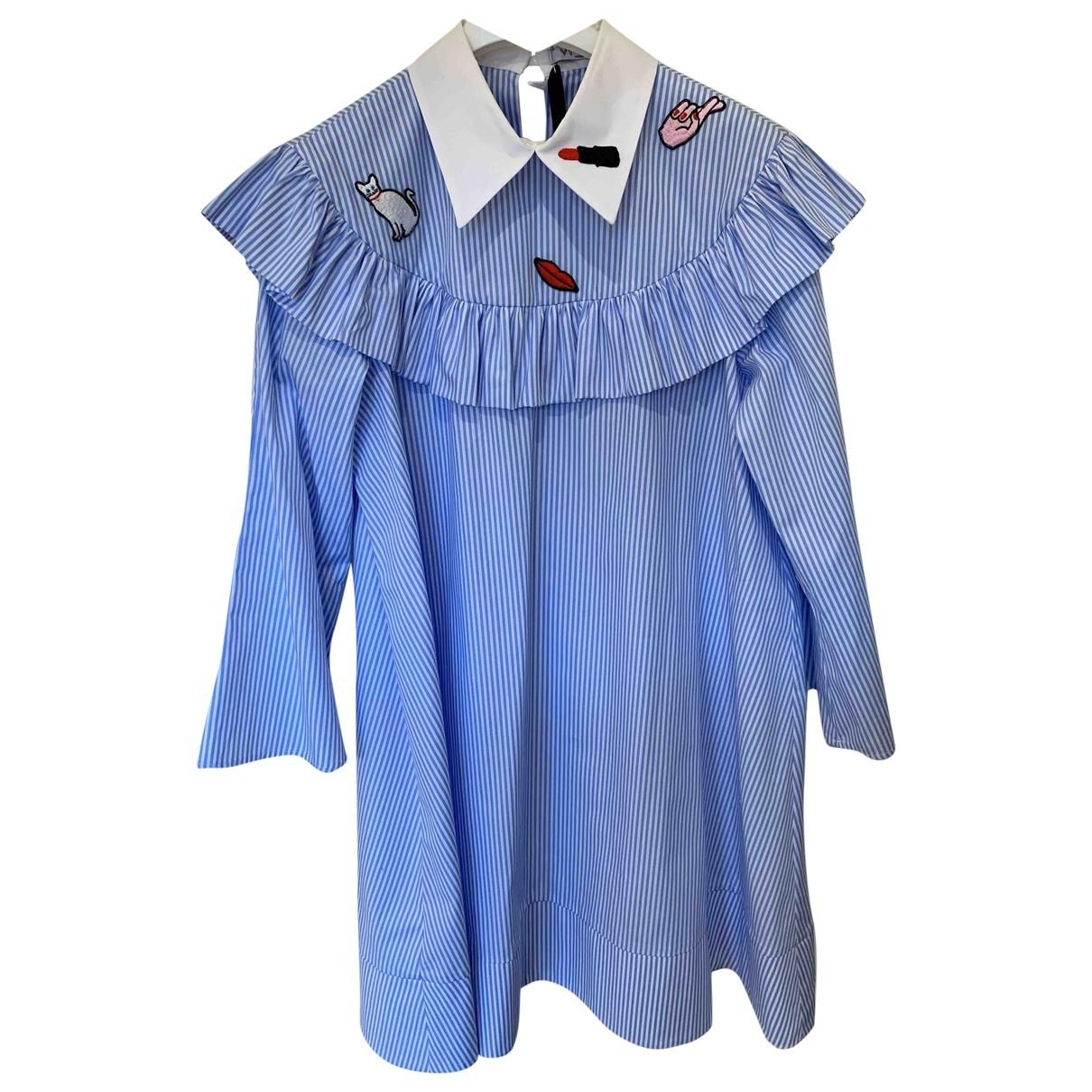 Vivetta \N Kleid in  Blau Baumwolle