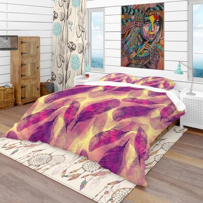 BED18599-T Designart 'Feathers Boho Pattern' Southwestern Duvet Cover