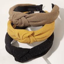 3pcs Knoten Dekor Haarband