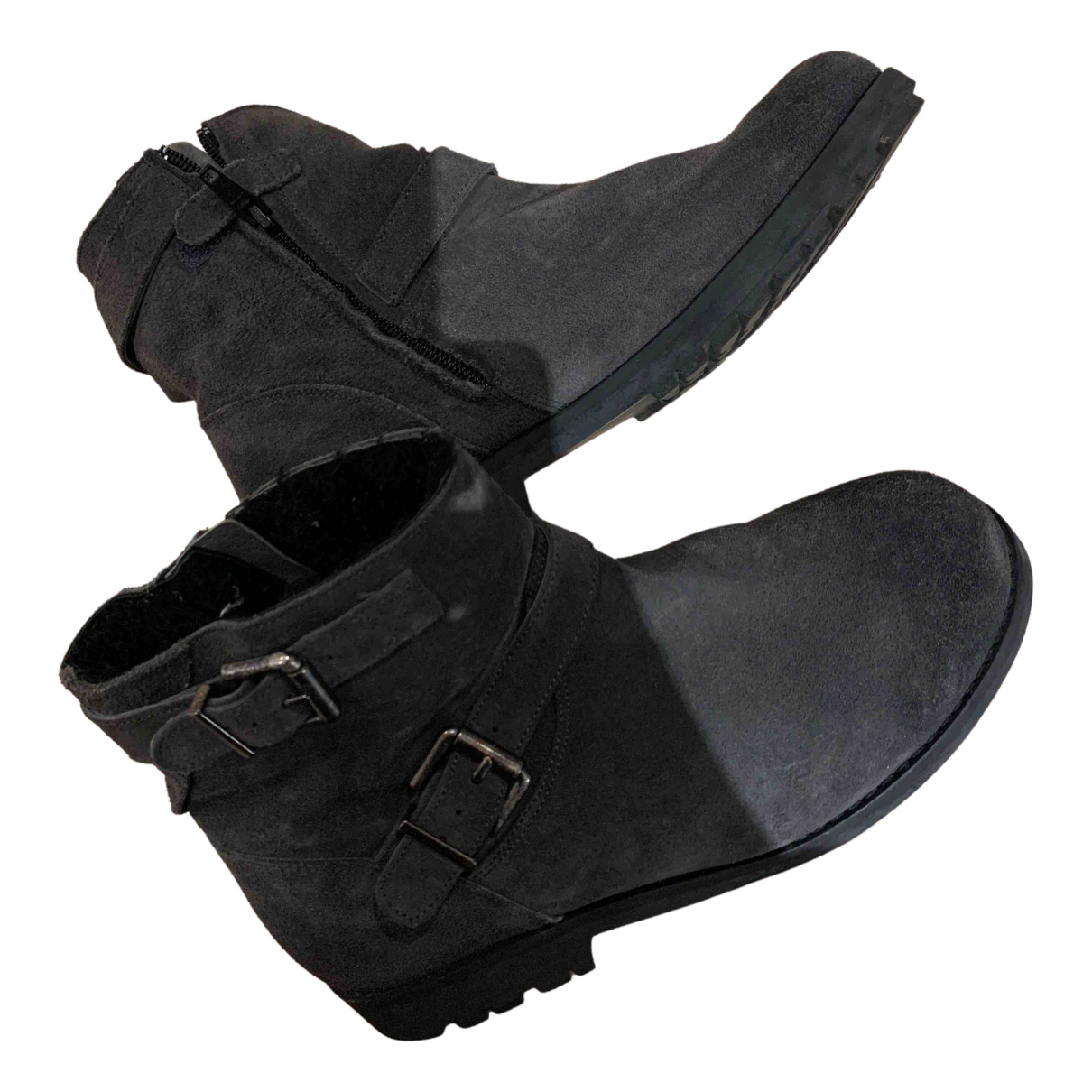 Bonpoint N Grey Suede Boots for Kids 35 FR