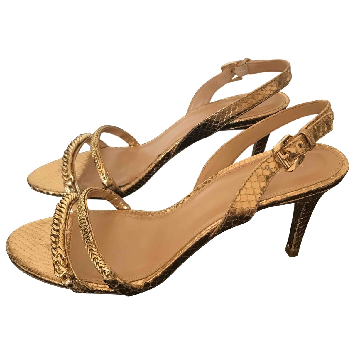 Michael Kors \N Gold Leather Heels for Women 10 US