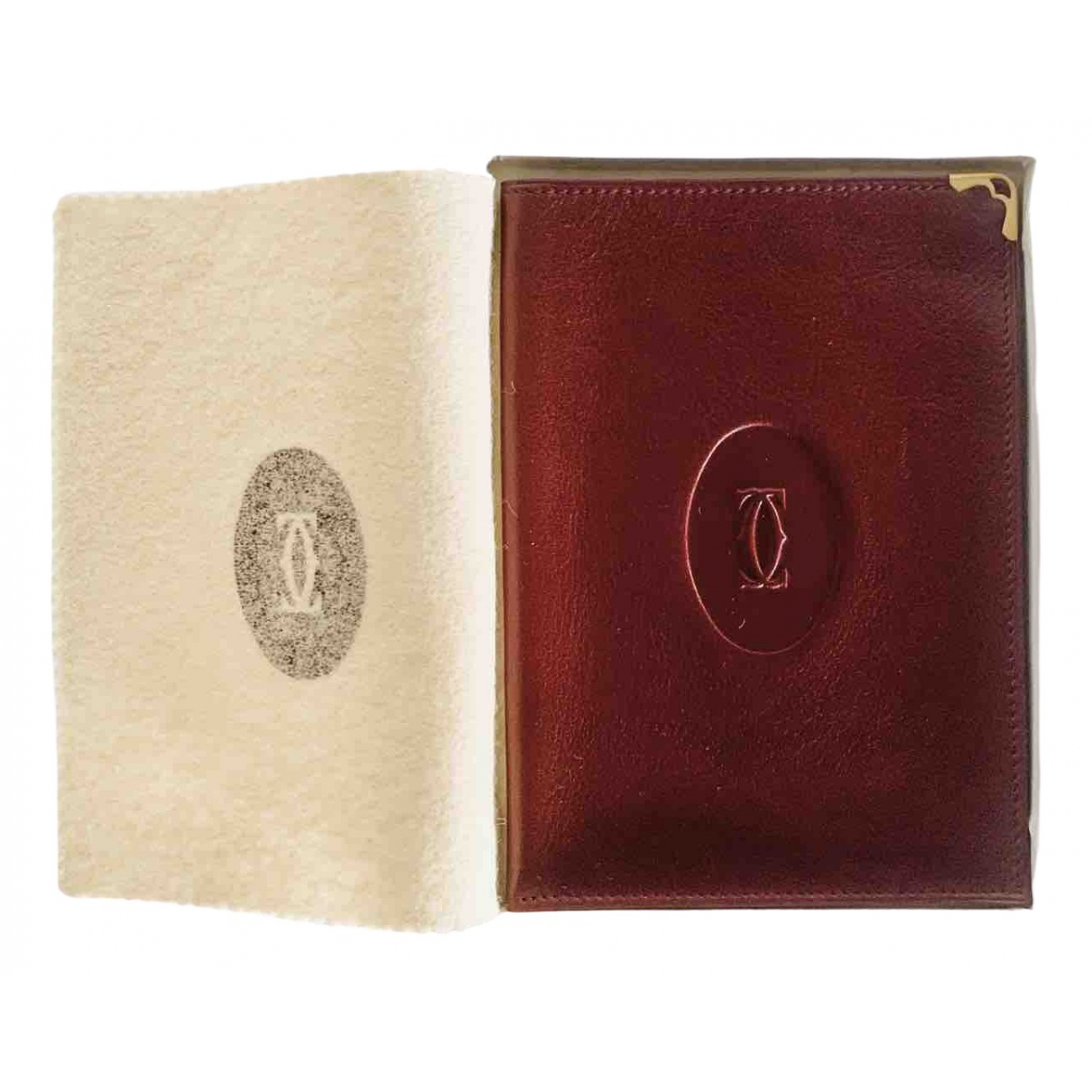 Cartier N Burgundy Leather Purses, wallet & cases for Women N
