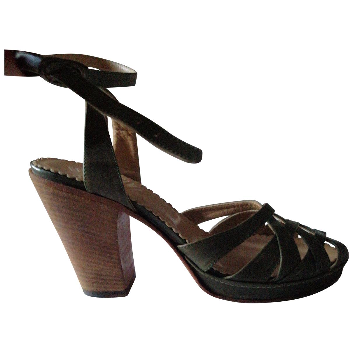 Fiorentini+baker \N Green Leather Sandals for Women 38 EU