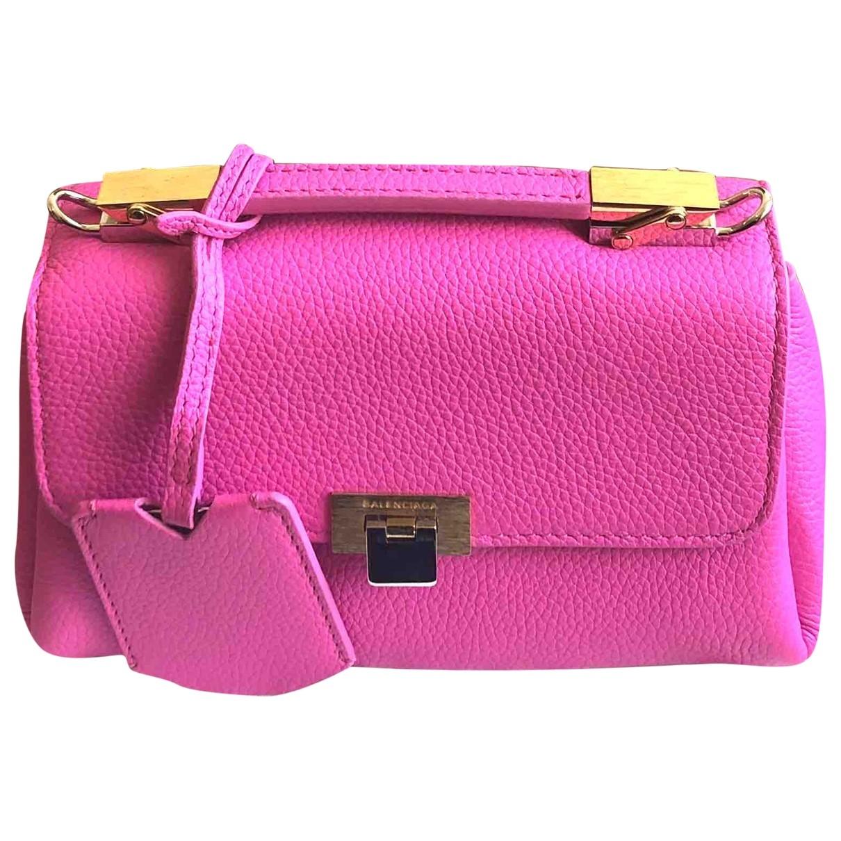 Balenciaga - Sac a main Le Dix pour femme en cuir - rose