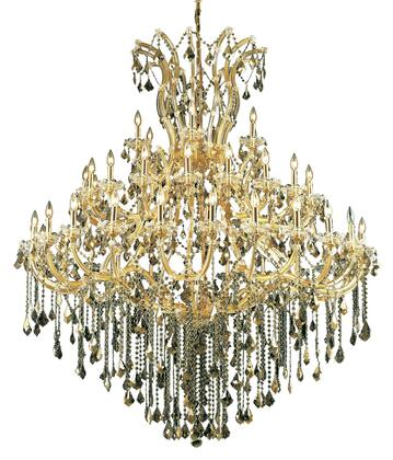 2800G60G-GT/RC 2800 Maria Theresa Collection Large Hanging Fixture D60in H72in Lt: 48+1 Gold Finish (Royal Cut Golden