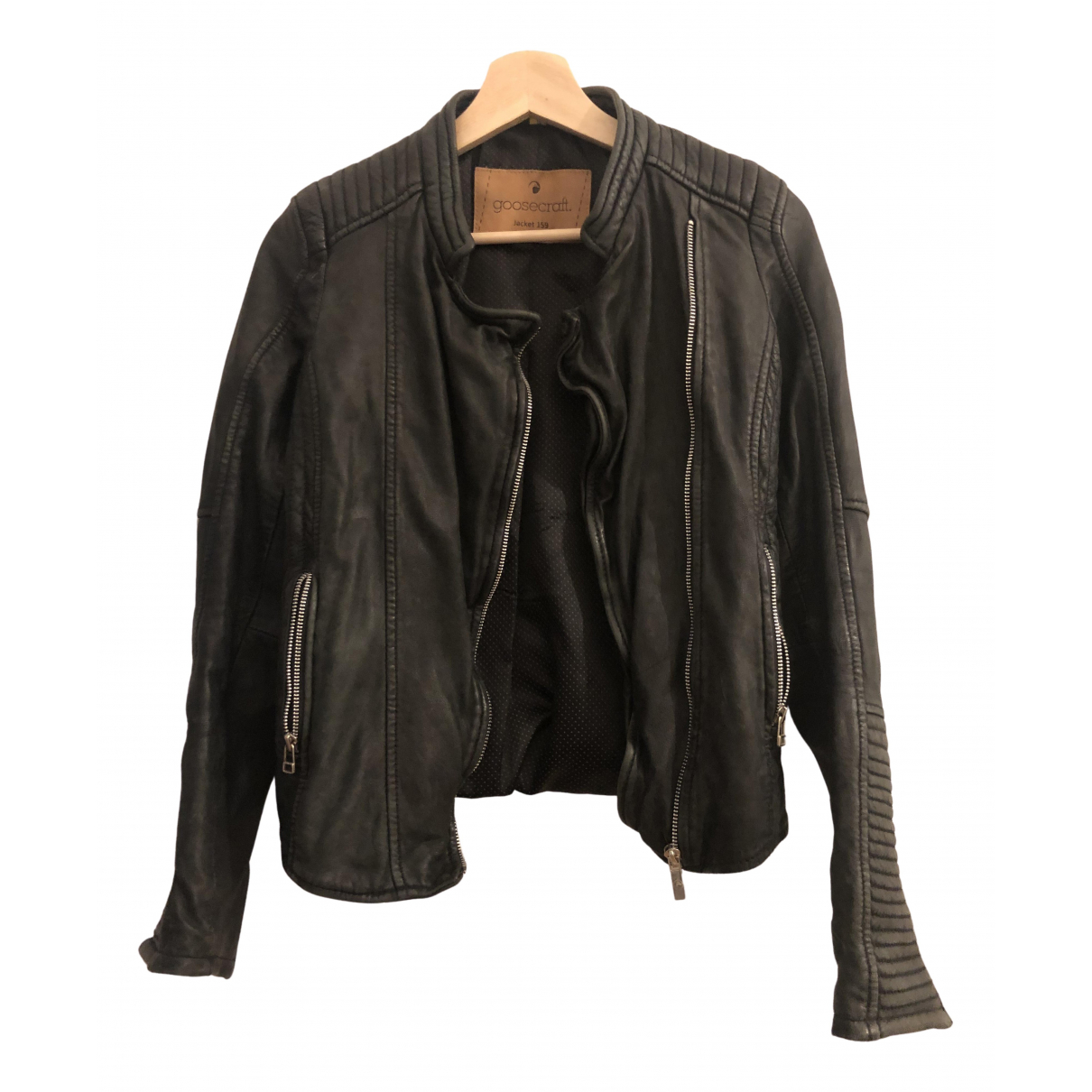 Goosecraft \N Black Leather Leather jacket for Women 36 IT