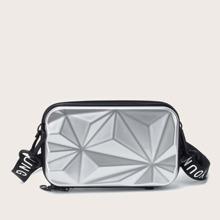 Minimalistische texturierte Boxtasche