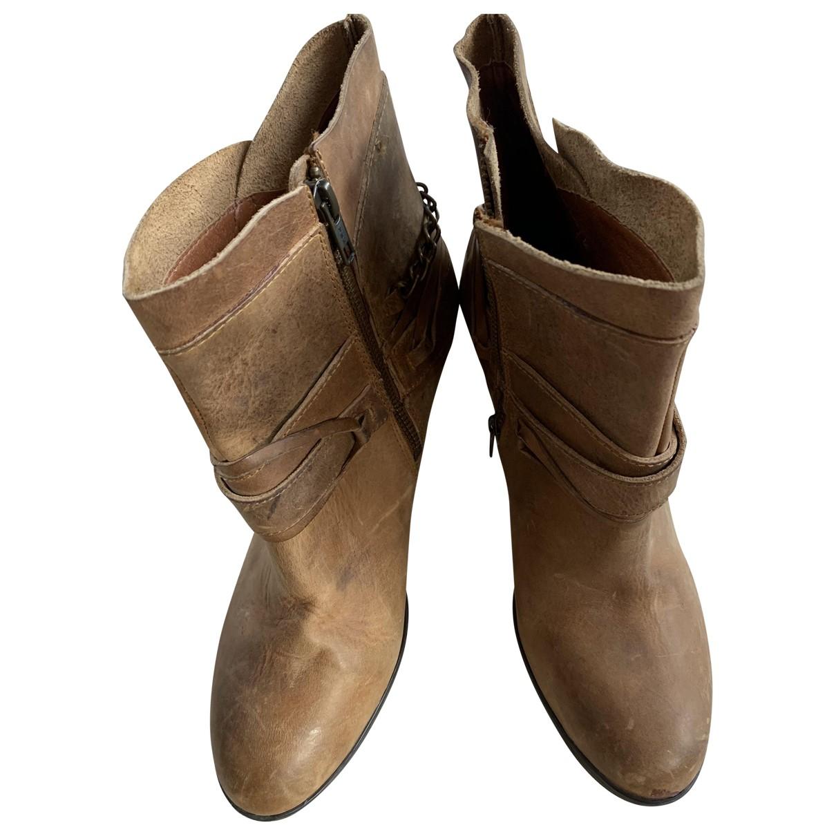Steve Madden - Bottes   pour femme en cuir - marron