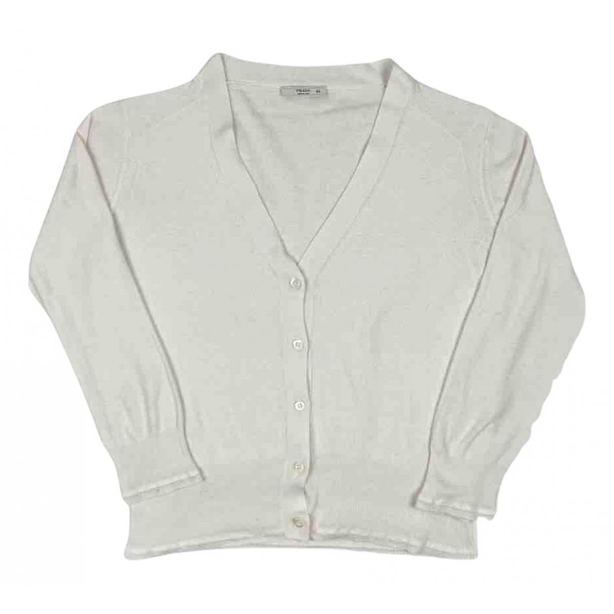 Prada N Beige Cotton Knitwear for Women 40 IT