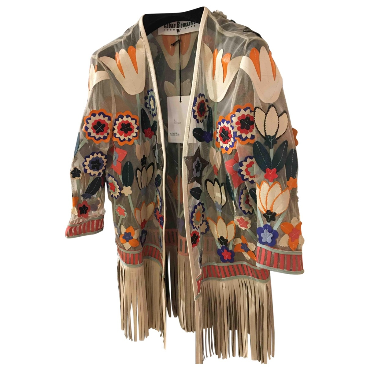 Caban Romantic \N Leather jacket for Women 40 IT