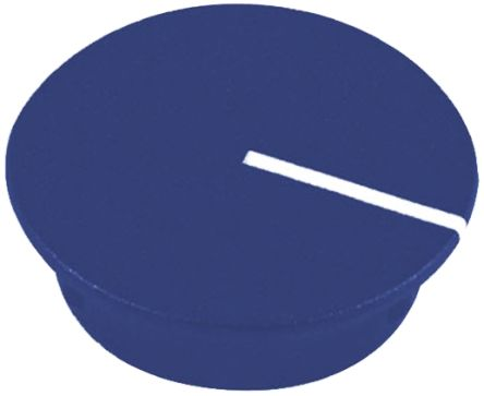Sifam Potentiometer Knob Cap, 15mm Knob Diameter, Blue, For Use With Collet Knob (10)