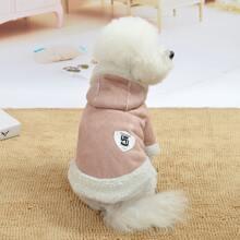 1 Stueck Hund Mantel mit Flicken Detail
