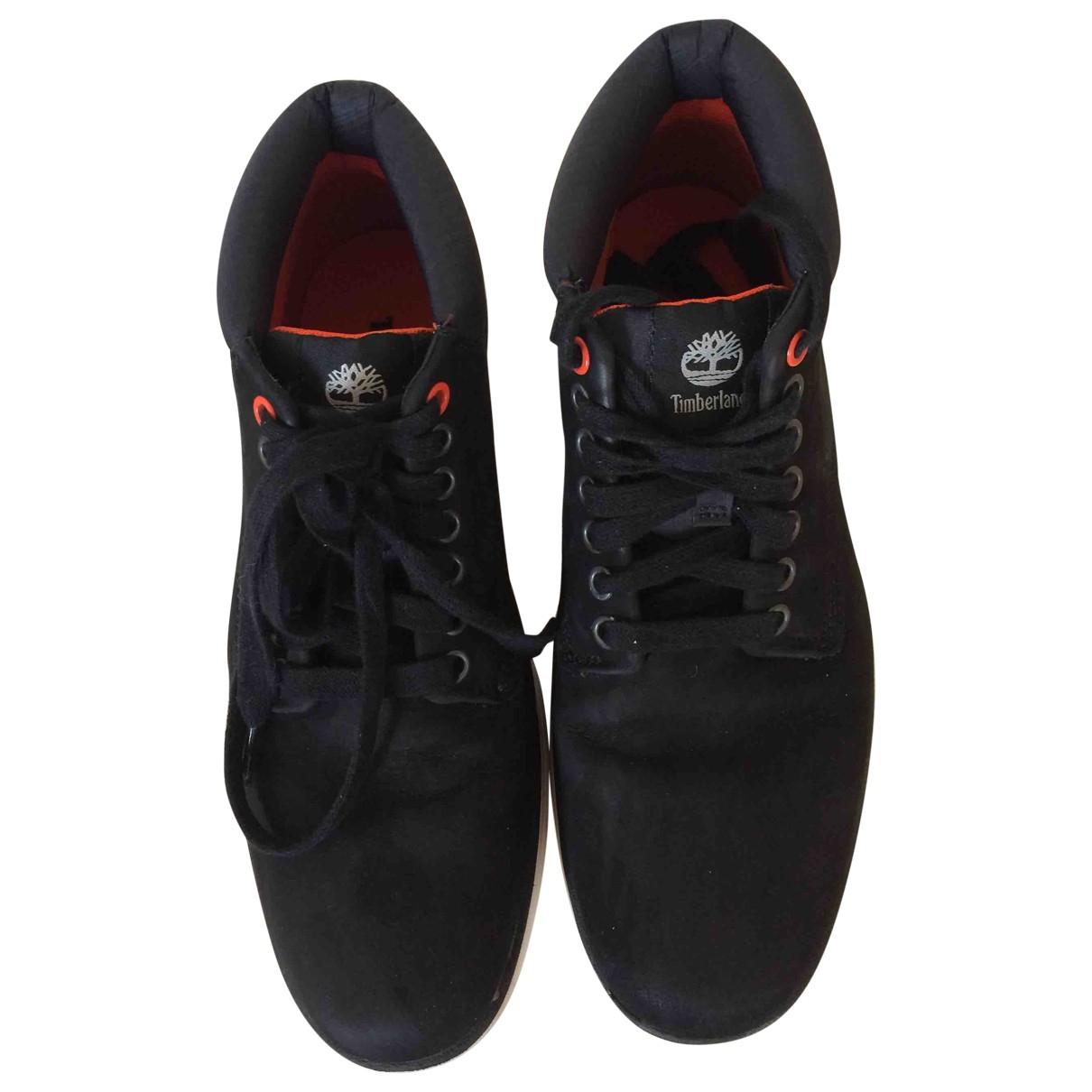 Timberland - Bottes.Boots   pour homme en cuir - bleu