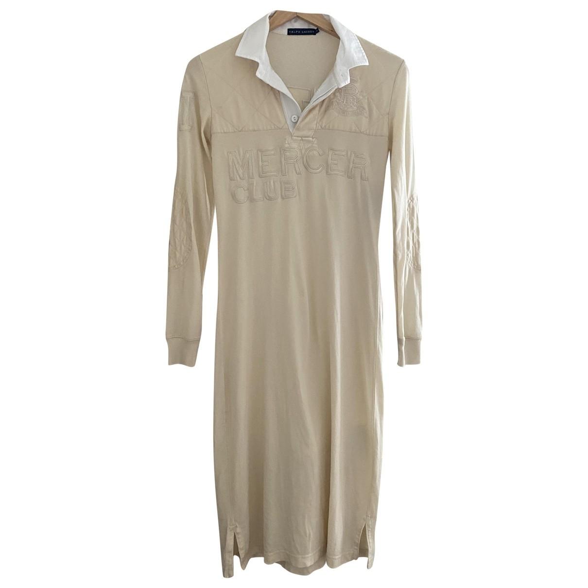Ralph Lauren \N Kleid in  Beige Baumwolle