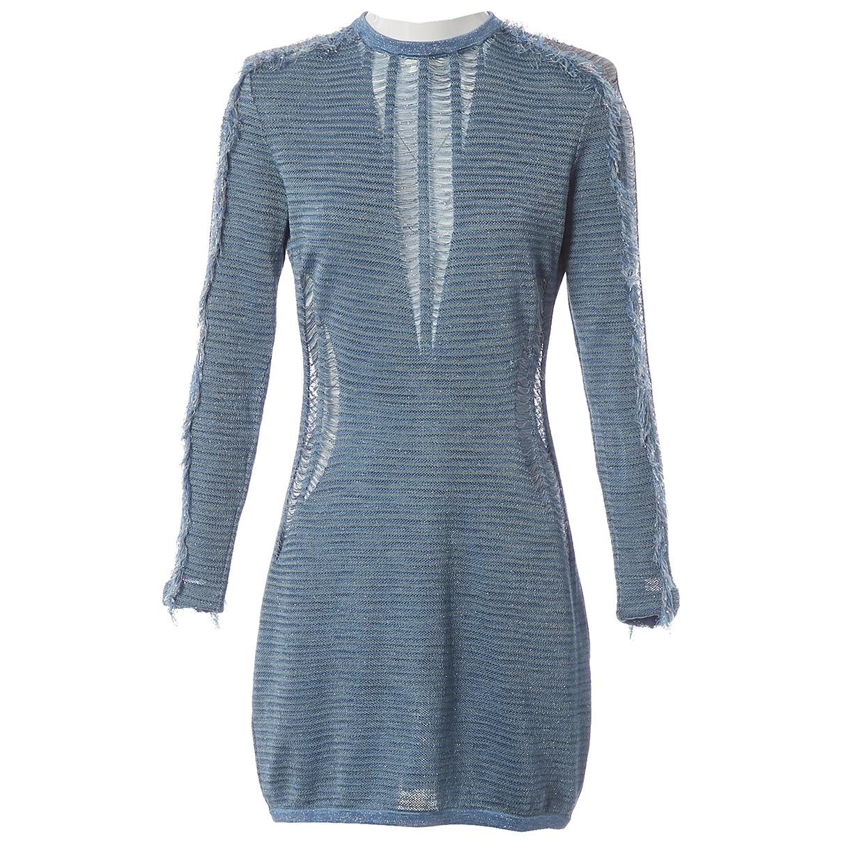 Balmain \N Blue dress for Women 40 FR