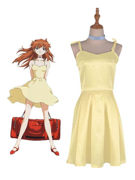 Milanoo New Genesis Evangelion EVA Asuka Langley Sohryu Dress Cosplay Costume