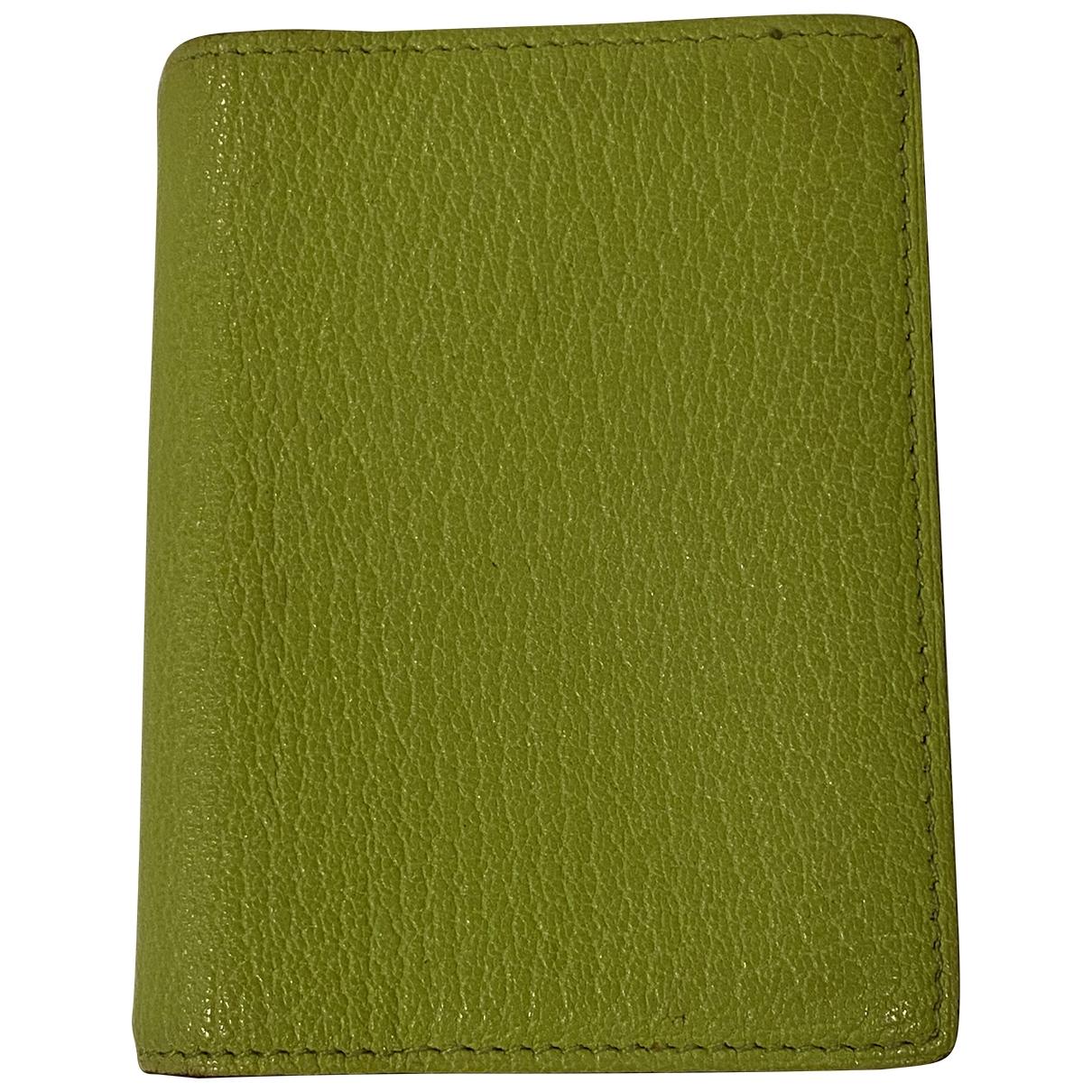Hermes - Objets & Deco Couverture dagenda GM pour lifestyle en cuir - vert