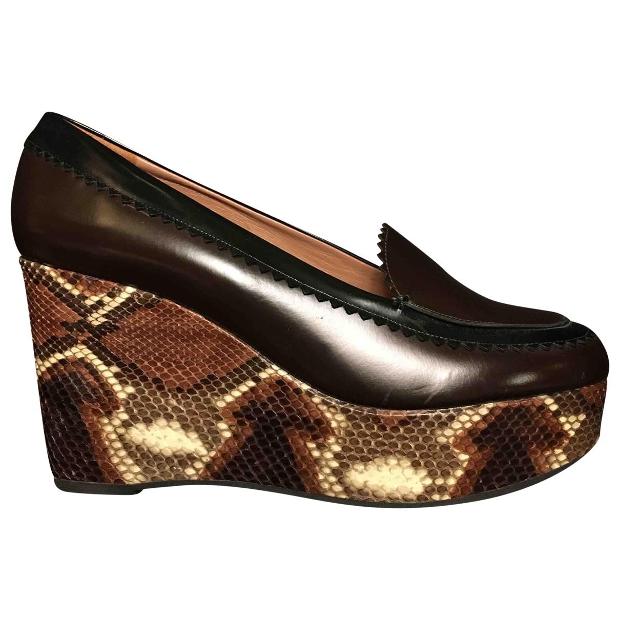 Carven \N Brown Leather Heels for Women 41 EU