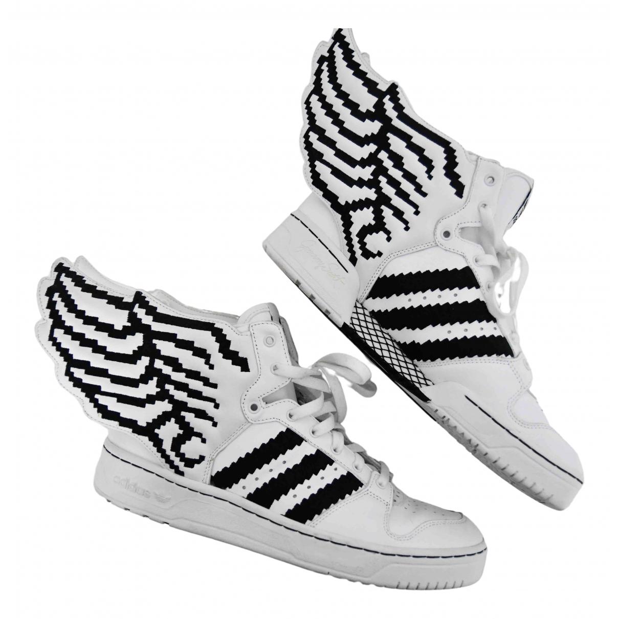 Jeremy Scott Pour Adidas \N Sneakers in  Weiss Leder
