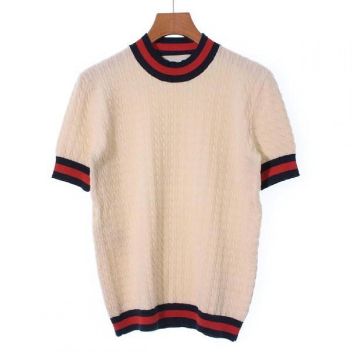 Gucci - Pull   pour femme en coton - blanc