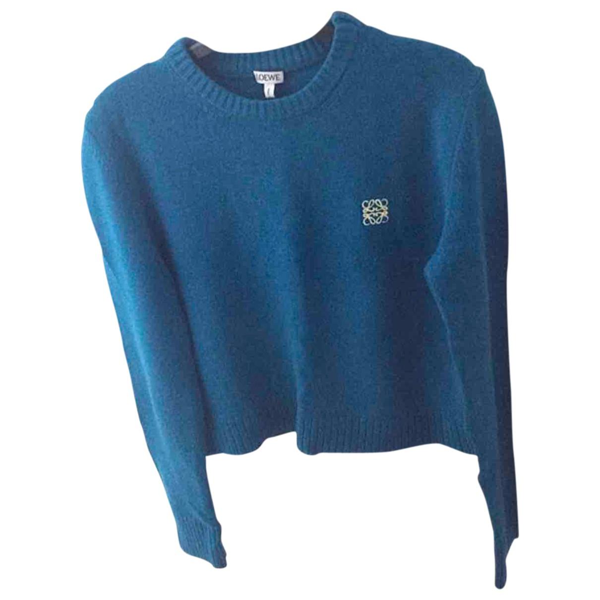 Loewe \N Pullover in  Blau Wolle