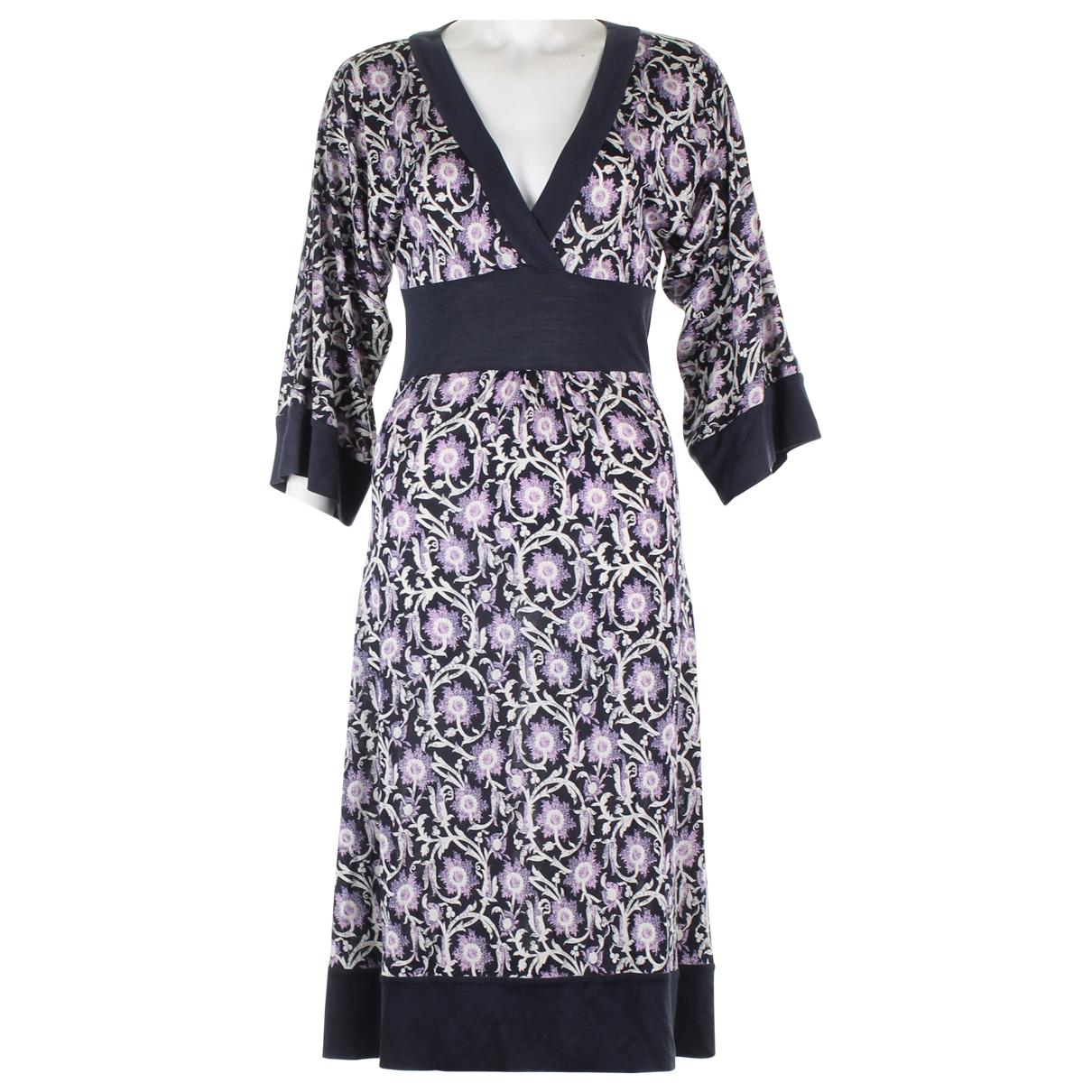 Diane Von Furstenberg \N Green Silk dress for Women 4 US
