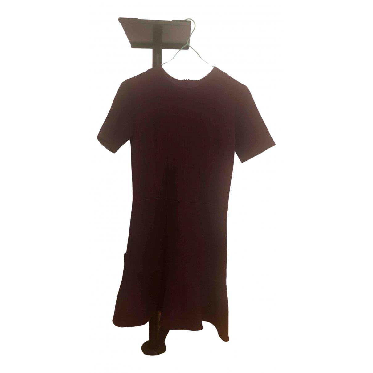 Carven \N Kleid in  Bordeauxrot Baumwolle