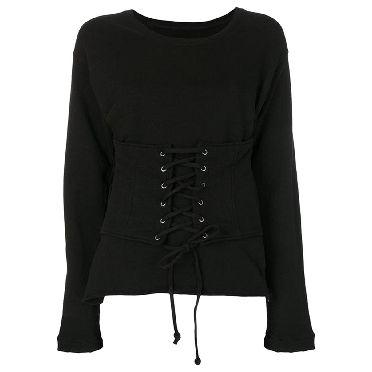 Rta - Pull   pour femme en coton - noir