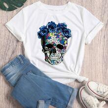 Camisetas Floral Casual