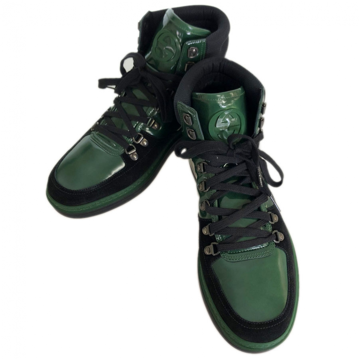 Gucci \N Green Patent leather Trainers for Men 9 US