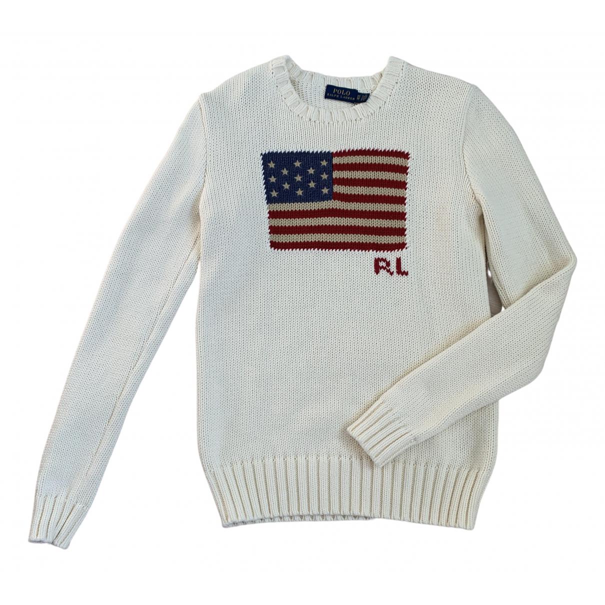 Polo Ralph Lauren - Pull   pour femme en coton - ecru