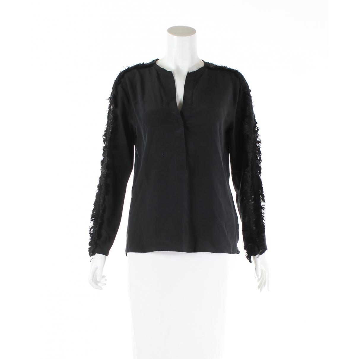 Sandro \N Black Silk  top for Women S International