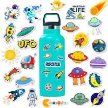 50pcs Cartoon Astronaut Print Sticker