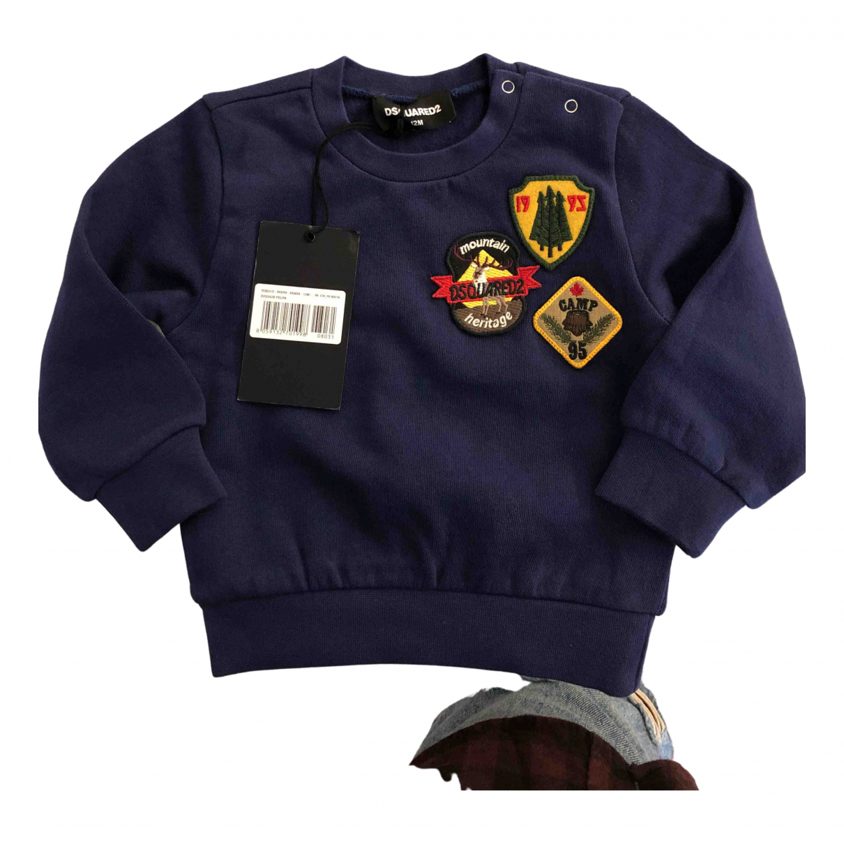 Dsquared2 \N Pullover, StrickJacke in  Blau Wolle