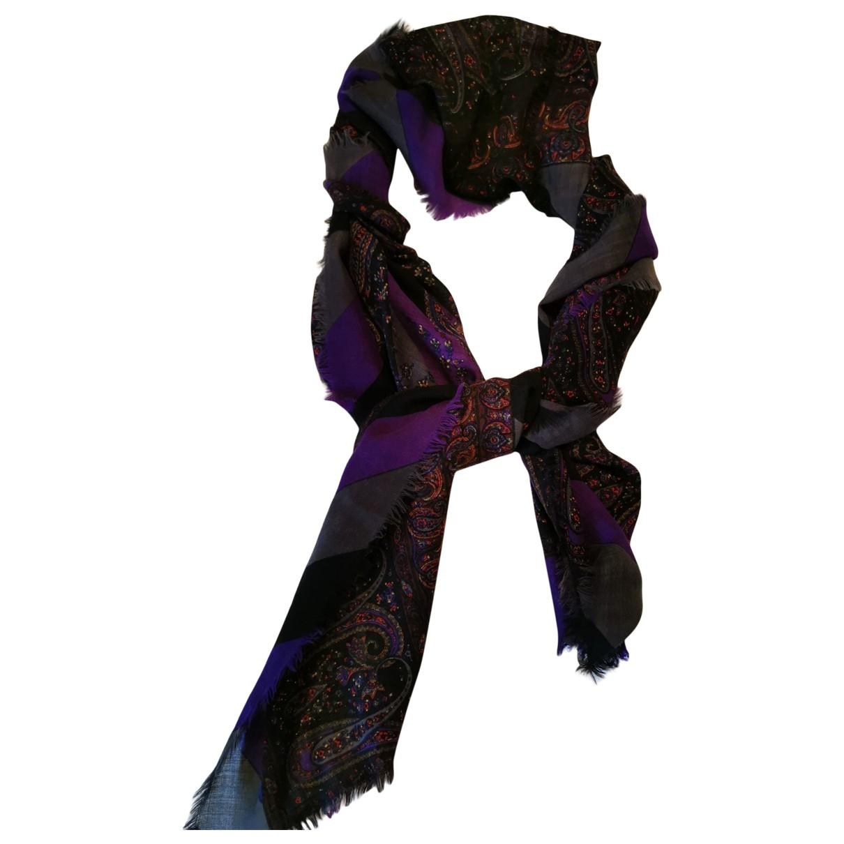 Fendi \N Purple Wool scarf for Women \N