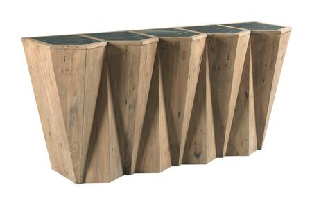 Junction Collection 710-926 Pyramid Console in White Collar  Smoke and