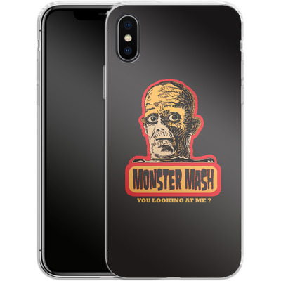 Apple iPhone X Silikon Handyhuelle - Monster Mash von caseable Designs