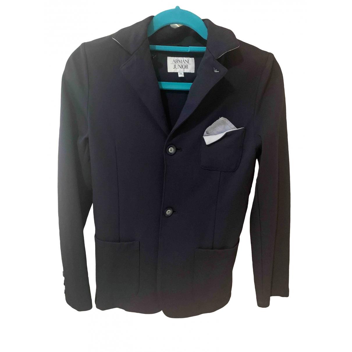 Emporio Armani - Blousons.Manteaux   pour enfant en coton - bleu