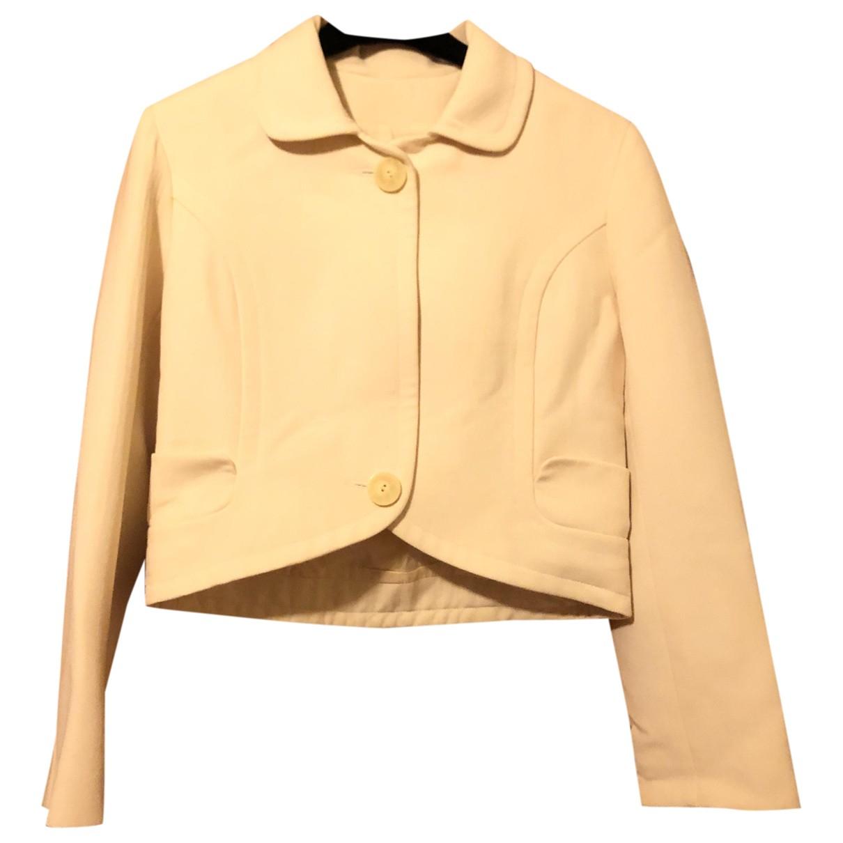 Balenciaga - Veste   pour femme en laine - blanc