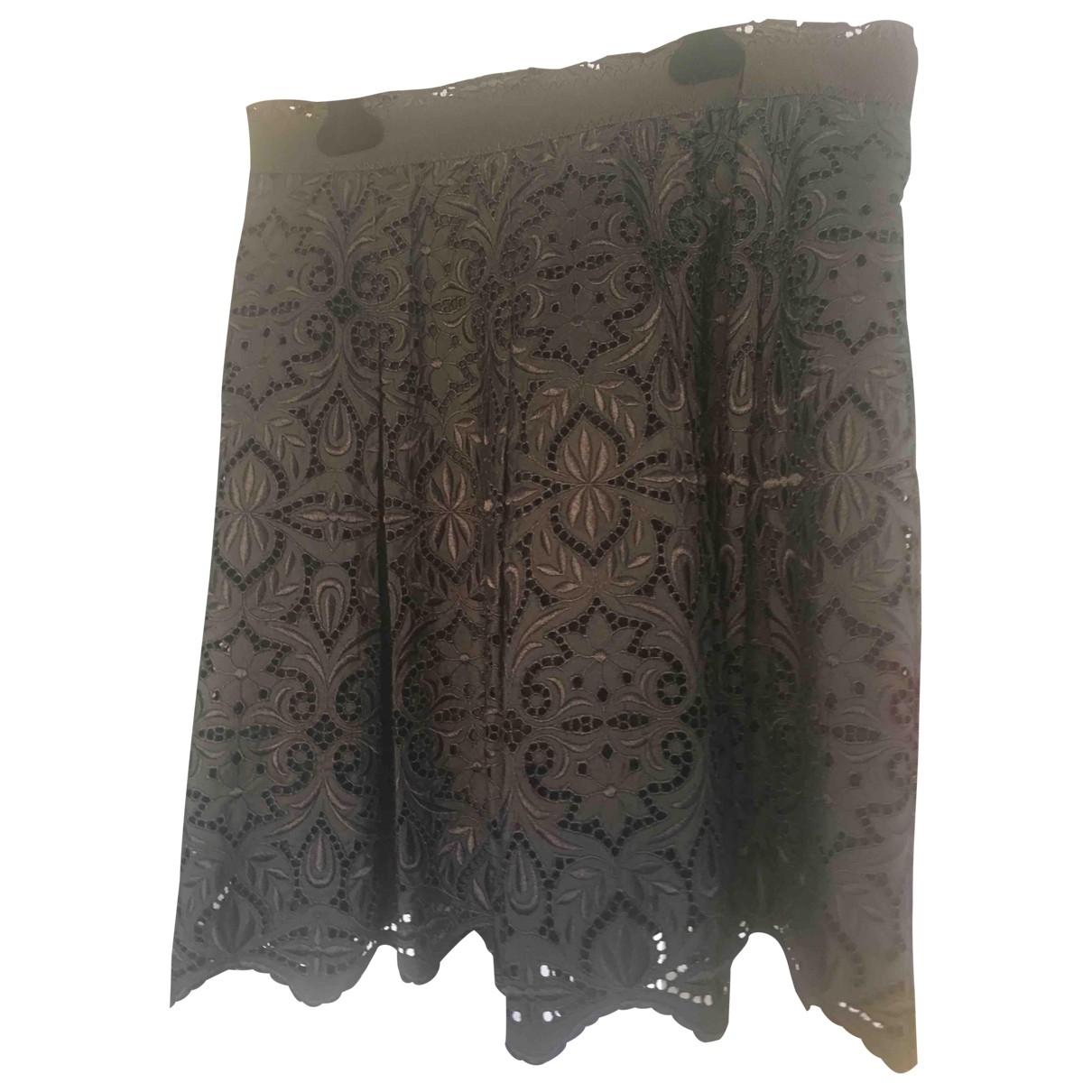 Falda midi de Seda Elie Tahari