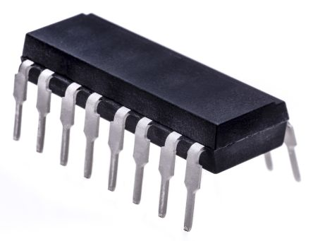 Isocom , TLP521-4 AC Input NPN Phototransistor Output Quad Optocoupler, Through Hole, 16-Pin DIP (25)
