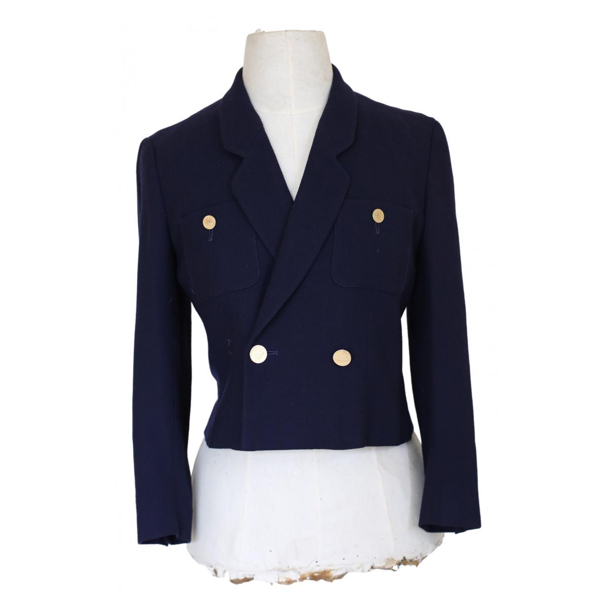 Jaeger - Veste   pour femme en laine - bleu
