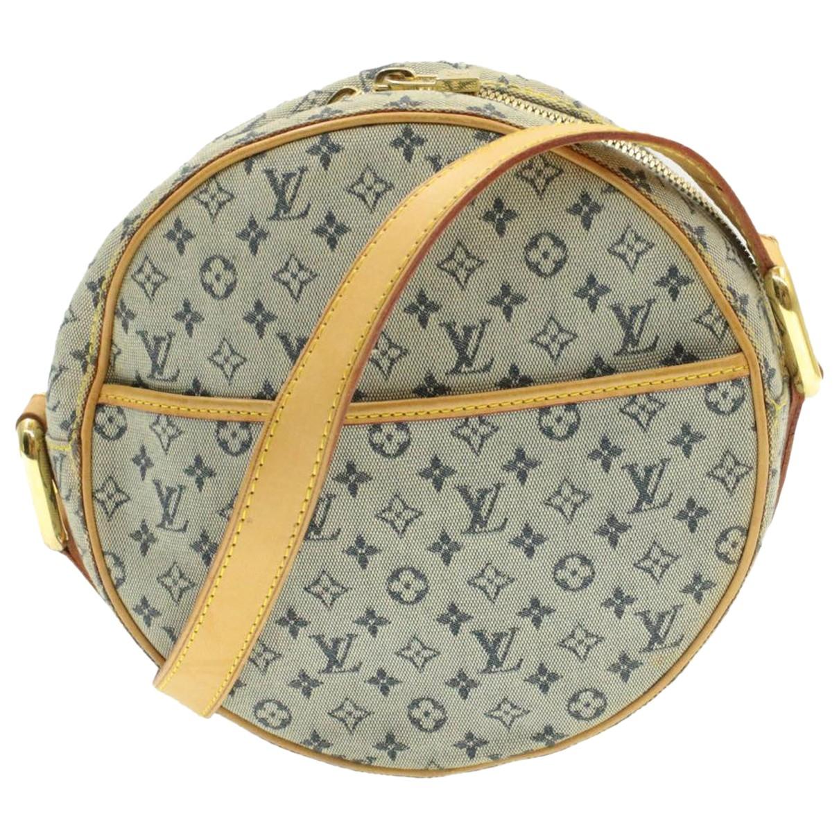 Louis Vuitton - Sac a main Jeanne  pour femme en toile - bleu
