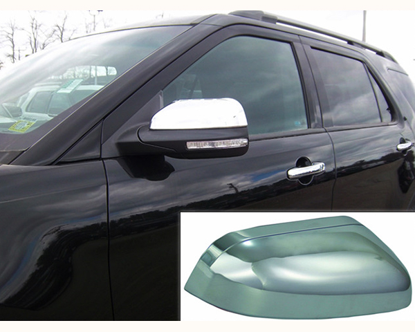 Quality Automotive Accessories Chrome Plated ABS Plastic 2-Piece Mirror Cover Set Ford Explorer 12-19