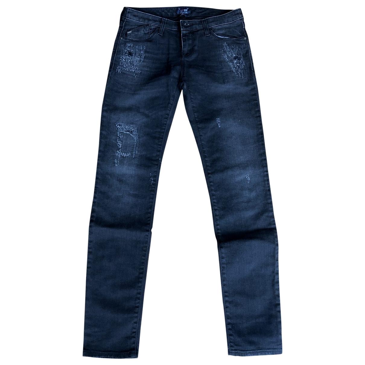 Armani Jeans \N Black Cotton Jeans for Women 26 US