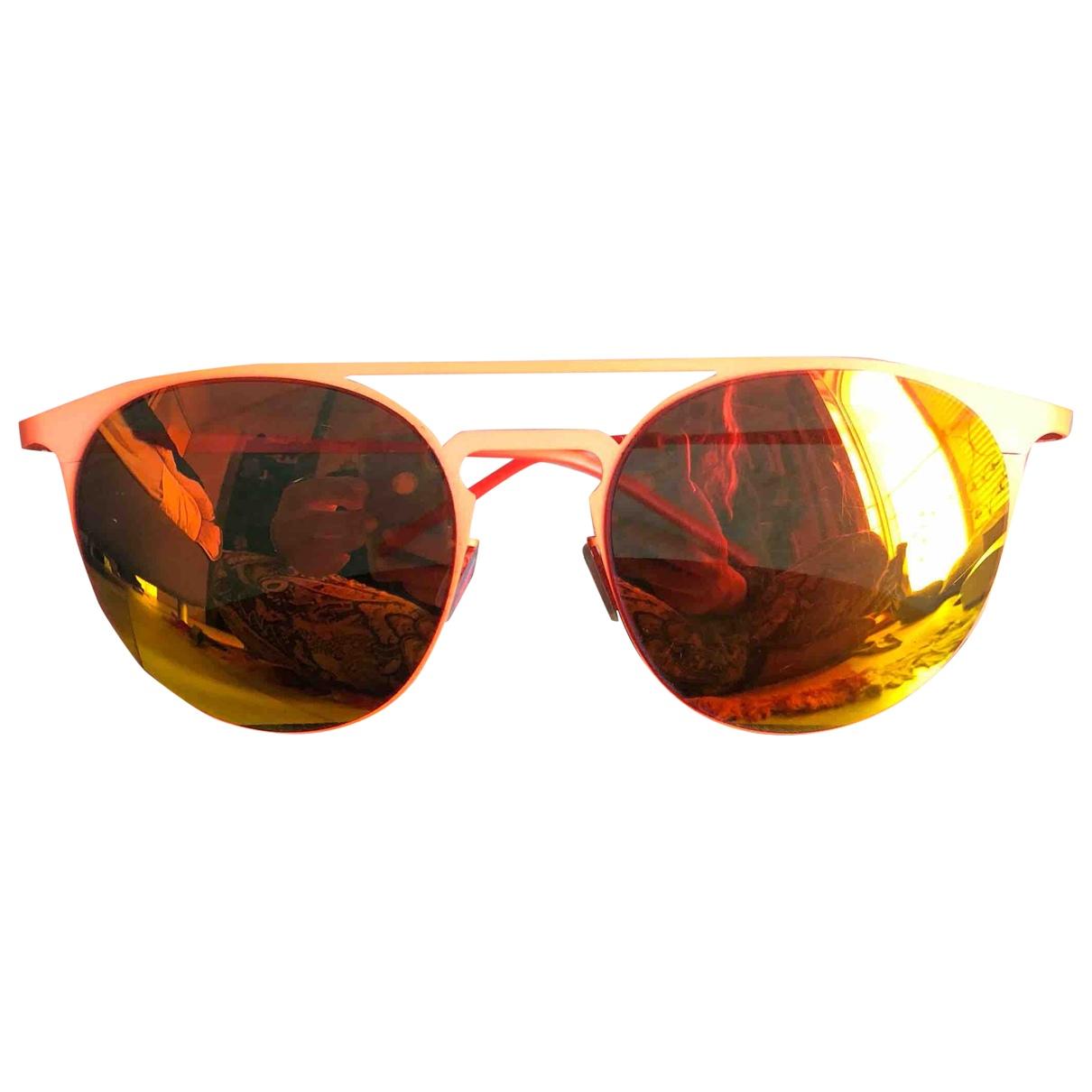 Italia Independent N Orange Metal Sunglasses for Women N