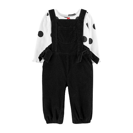 Carter's Baby Girls 2-pc. Overall Set, 6 Months , Black