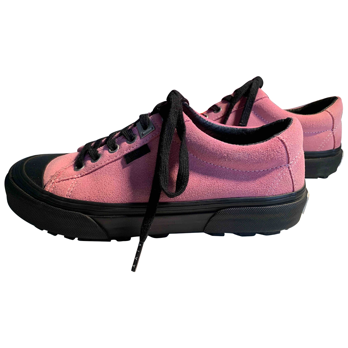 Vans - Baskets   pour femme en suede - rose